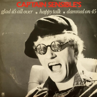 "Captain Sensible - Glad It's All Over (12"") (EX-/VG-)"